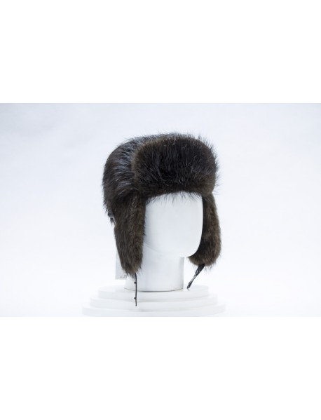 Мужская шапка-ушанка из бобра