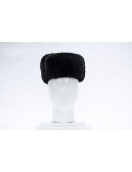 Мужская шапка-ушанка из норки