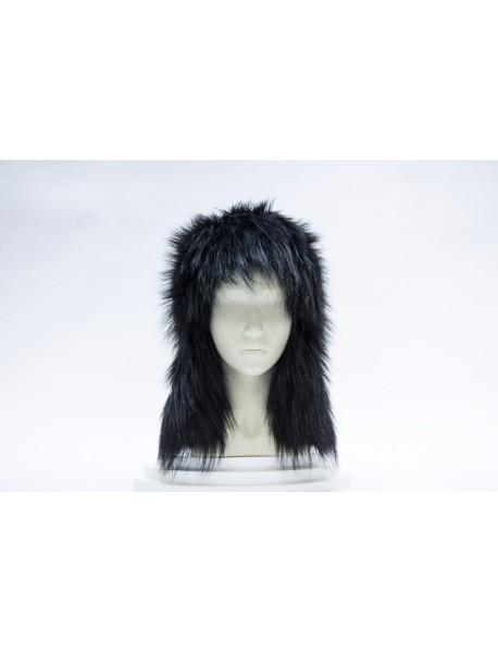 Женская шапка-ушанка из лисы
