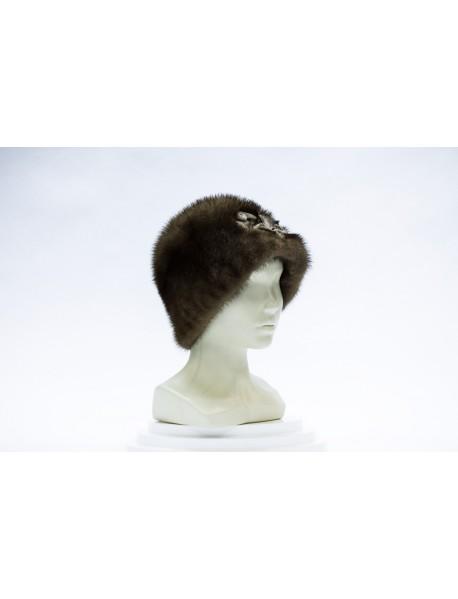 Женская шапка из норки