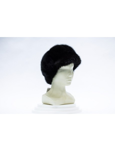Женская шапка из ондатры