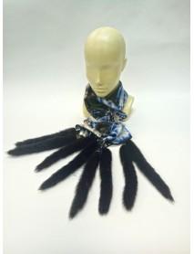 Женский шарф из атласа и норки