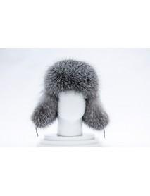 Мужская шапка-ушанка из лисы