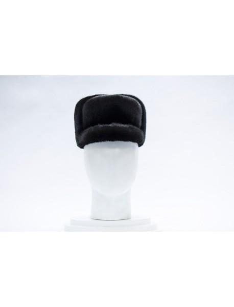 Мужская шапка из норки
