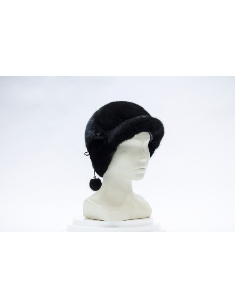 Женская кепка из норки