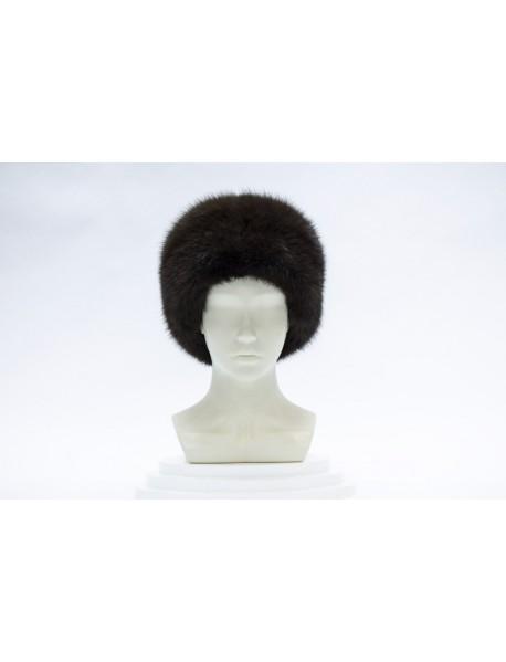 Женская шапка из куницы