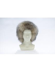 Женская шапка-ушанка из блюфроста