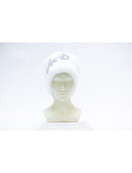 Женская шапка из норки с помпоном