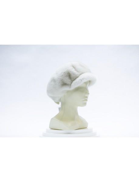 Женская кепка-берет из норки
