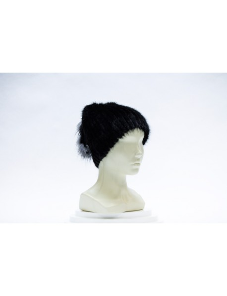 Женская шапка-сноп из ондатры